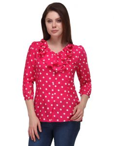 Sportelle Usa India Crepe Printed Top_7192_