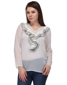 Sportelle Usa India Crepe Full Sleeve Top_7200_