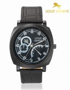 Men's Watches   Leather Belt   Analog - LOUIS GENEVE Mens Wrist Watch_LG-MW-BLACK-006