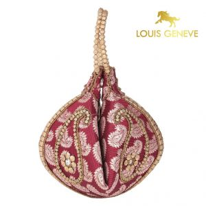 triveni,my pac,Solemio,La Intimo,Jagdamba,Louis Geneve,Surat Tex Apparels & Accessories - Louis Geneve Potli For Ladies(Product Code)_Lg-P-Maroon-4