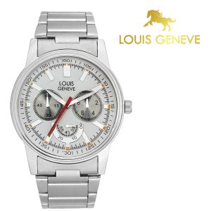 Louis Geneve Mens' Watches   Round Dial   Metal Belt   Analog - Louis Geneve  White Metal watch for men_(Product Code)_LG-MW-SS-WHITE-037
