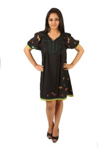 Indricka Black Color Tunic For Women.