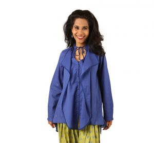 Kurtis - INDRICKA Blue color BLOUSE for women.