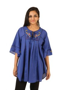 Indricka Blue Color Top For Women.