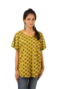 Indricka Yellow Color Top For Women.