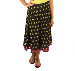Indricka Black Color Skirt For Women.