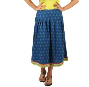 Indricka Blue Color Skirt For Women.