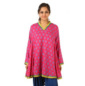 Indricka Pink Color Tunic For Women.
