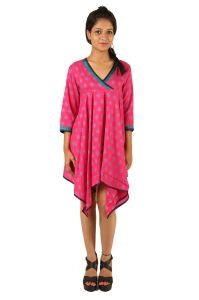 Indricka Pink Color Dress For Women.