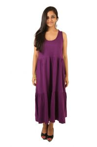 Indricka Purple Color Dress For Women.