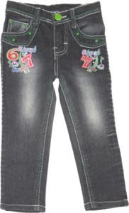 Jeans - Jeans- Girls Slim Fit Jeans Color: Black Size: 26 Age: 6-7 Years
