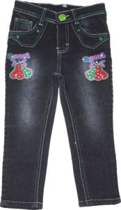 Jeans - Mankoose Jeans- Girls Slim Fit Jeans Color Black, Size 30, Age8-9 Years