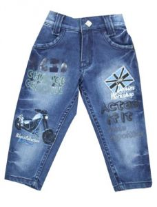 Jeans - Mankoose Jeans- Boys Jeans embroidered Dark Blue Size 16 (12-18 Months)