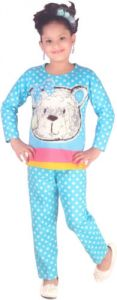 Nightwear - NIGHT SUIT FOR GIRLS - FOR 3 TO 4 YEARS - SIZE - 22