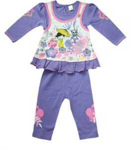 Girls - FROCK With Leggings 6-12 Month BABY GIRL- Purple& White Color Size- '1'
