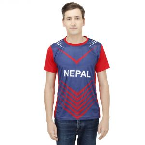 T10 Sports Microfiber Multicolor Nepal Fan Jersey T Shirt For Men - (code -8907173077605_p)
