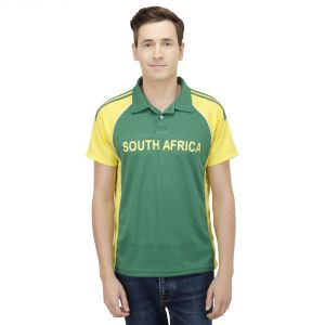 T10 Sports Microfiber Multicolor South Africa Fan Jersey T Shirt For Men - (code -8907173077353_p)
