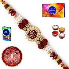Rakhi Gifts To India - Stunning Shree Rakhi (product Code - Jss076)