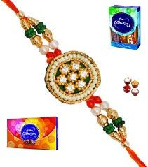 Stunning Stones & Colorful Beads Rakhi (product Code - Jss202)