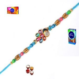 Rakhi Gifts-beautiful Peacock Rakhi (product Code - Ma8416)