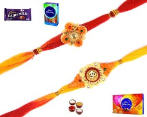 Thread Rakhis (India) - Buy Rakhi Online-Pair of Mauli Rakhi (Product Code - SA123)