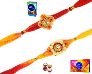 Thread Rakhis (India) - Buy Rakhi Online - Pair of Mauli Rakhi - ( Product Code - SA123 )