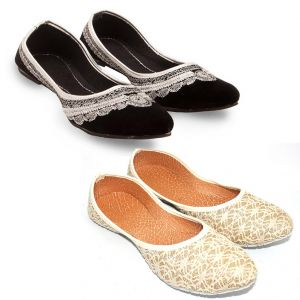 Great Art Women Fashionabal Party Wear Rajasthani Ballerinas Mojari Combo Dli6wmc161