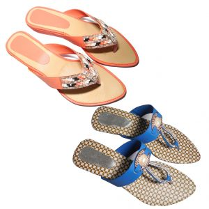 Great Art Women Fashionabal Party Wear Fancy Slipper Sandals Combo Dli6wmc169