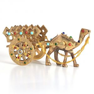Art, Hobbies - Gemstone Studded Pure Brass Camel Handicraft -184