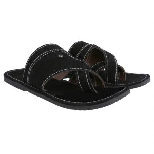 Men Kolhapuri Design Leather Ethnic Mojari Slipper 207b