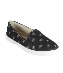 Indilego Black Fabric Shoes (product Code - Indilegoljblk111-121)
