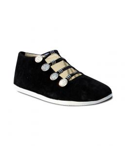 Indilego Black Suede Shoes (product Code - Ilegoshfbk18)