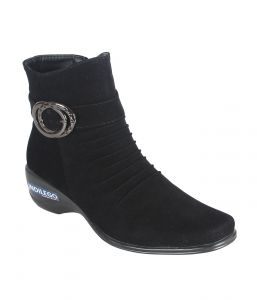 Boots - Indilego Black Suede Boots (Product Code - Indilegobblk110-120)