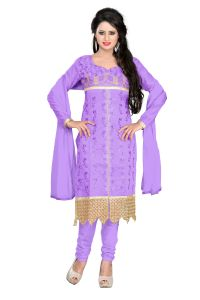 Shree Vardhman Lavender Chanderi Top Straight Unstiched Salwar Suit Dress Material(ayana05)