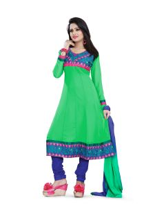 Shree Vardhman Georgette Green Unstitched Salwar Suit Dress Material (veera03)