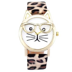 Fap Analog Cat Design Multicolour Fancy Womens Watch