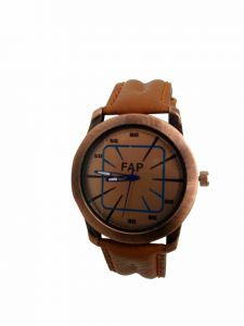 Fap Analog Brown Colour Synthetic Mens Watch