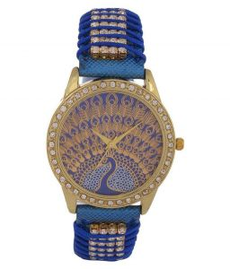 Fap Analog Peacock Design Blue Colour Womens Watch