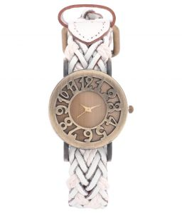 Fap Hallow Dial White Colour Womens Watch