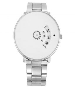Fap Analog Silver Colour White Dial Mens Watch