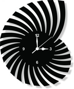 enamel designer black wall clock clock061 - Designer Wall Clocks Online
