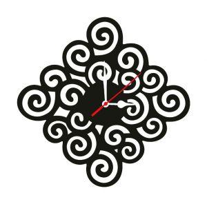 Clocks - Enamel Wall Clock Floralcut Mdf Wooden Size 9 Inch