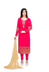 Style Amaze Graceful Pink Color Georgette Straight Suit (code -2231-pink)