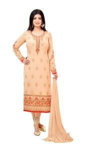 Style Amaze Stunning Beige Color Georgette Straight Suit (code -2234-beige)