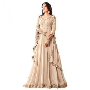 Style Amaze Beige Color Georgette Anarkali Suit (code -ms-4602)