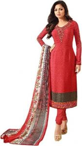 Style Amaze Good Looking Red Designer Straight Salwar Suit (code -nt-1702)