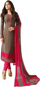 Style Amaze Designer Beige Color Heavy Semi-stitched Straight Suit (code -nt-1706)