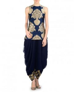 Dress Materials - Style Amaze Indian Designer Banarsi Blue Color Panjabi Suit-SASUNDAY-1037