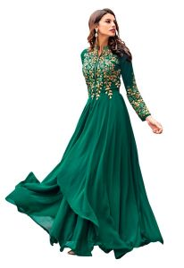 Style Amaze Charming Sea Green Color Georgette Embroidered Floor Length Suit (code -sasunday-2115)