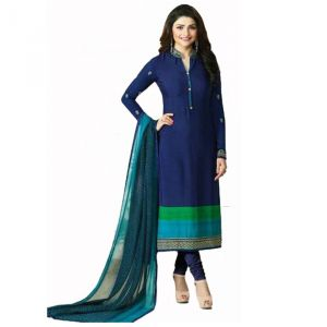 Style Amaze Good Looking Navy Blue Designer Straight Salwar Suit (code -vfsrc9-5379)